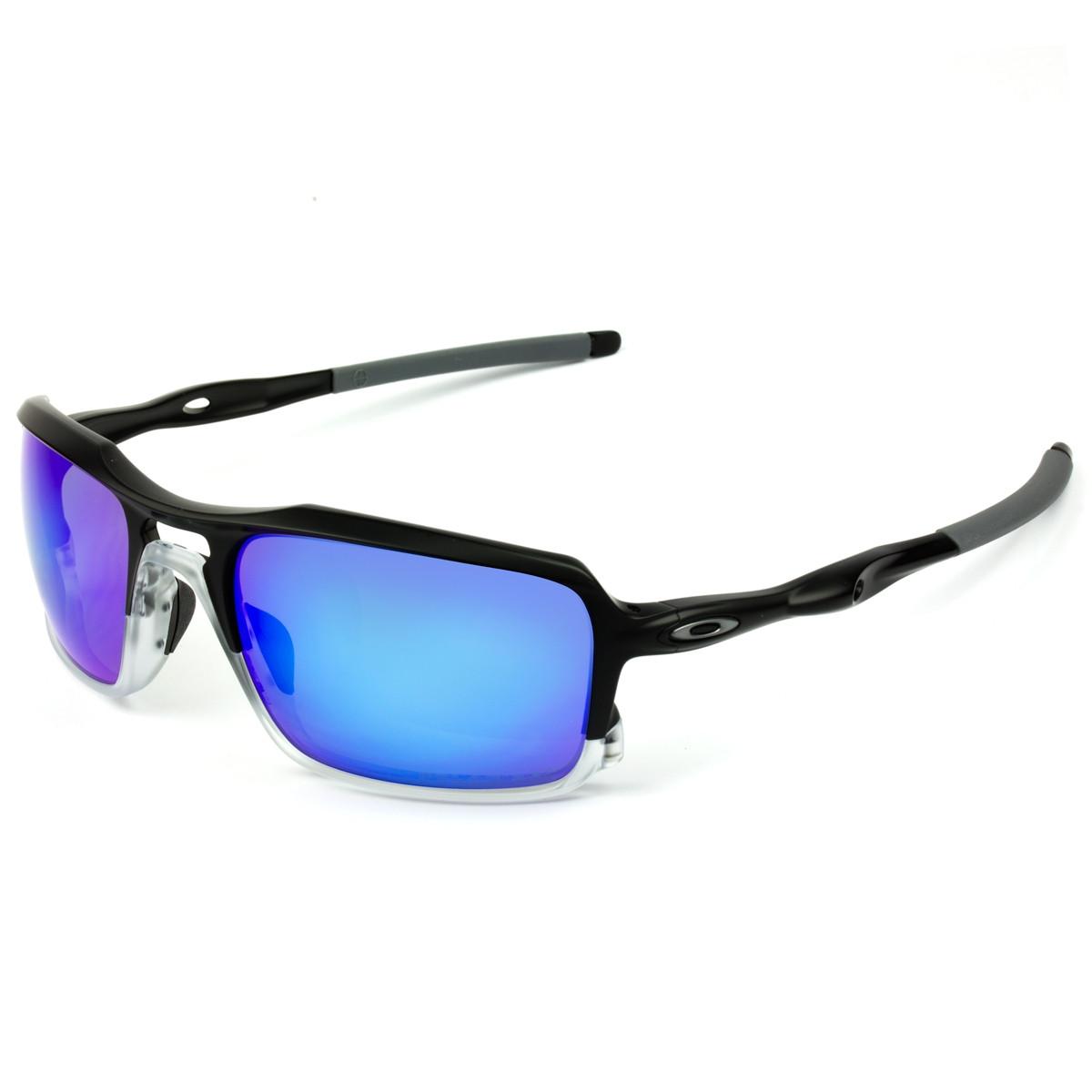 Óculos Oakley Triggerman Matte Black Lente Sapphire Iridium Polarizado 1369d8c6e1