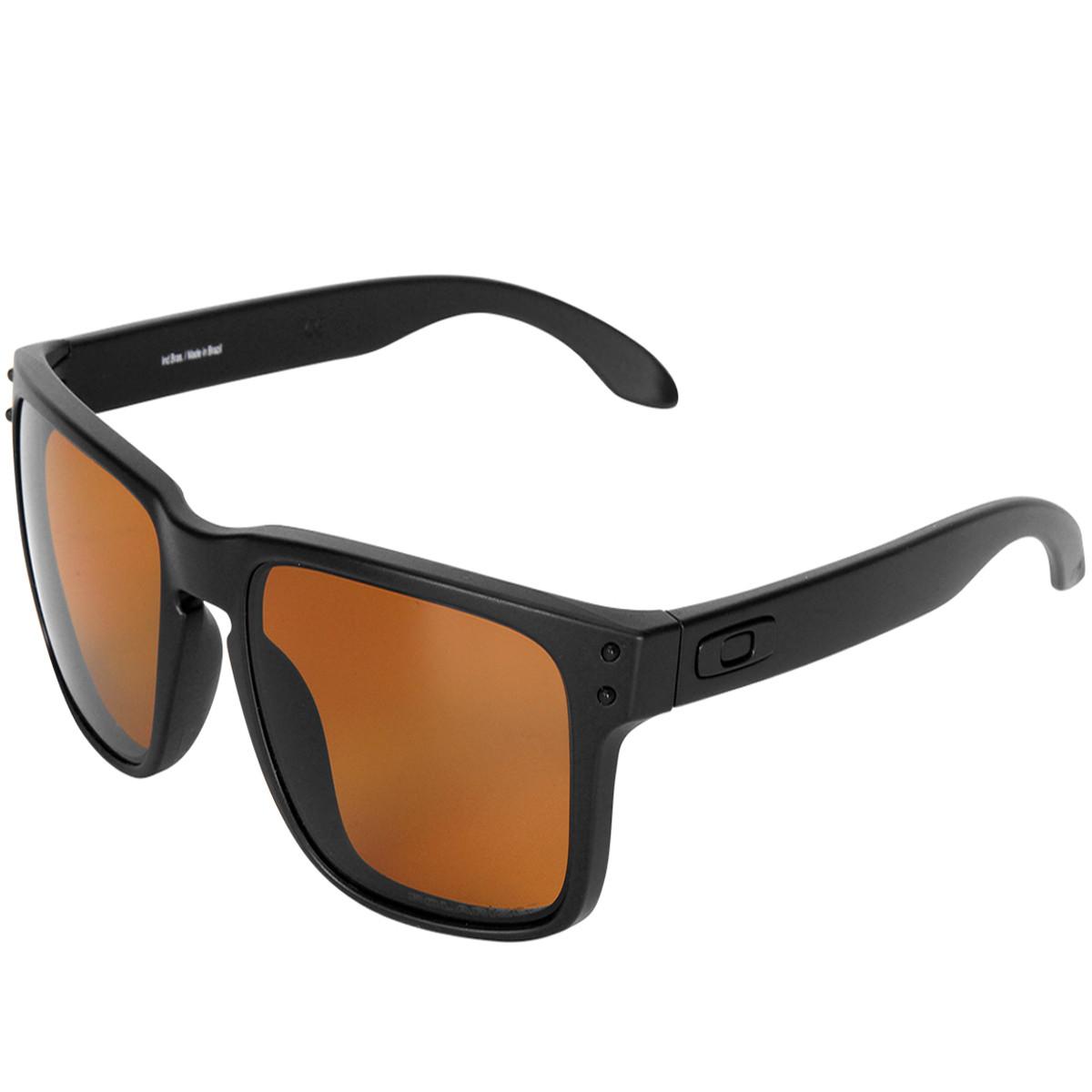 Óculos Oakley Holbrook LX Matte Black Lente Bronze Polarizado ref ... c4c595ec6e