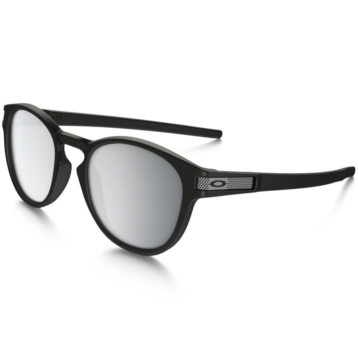 Óculos Oakley Latch Machinist Collection Matte Black Lente Chrome Iridium 505b277f16