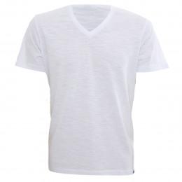Rx Camiseta Alma De Praia Gola V Flame Branca