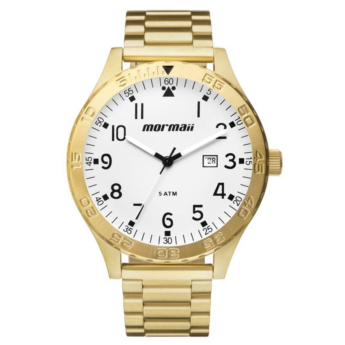 8e4988c26efc2 Relógio Mormaii Loyal 2.0 Golden Bianco ref MO2115AN 4C