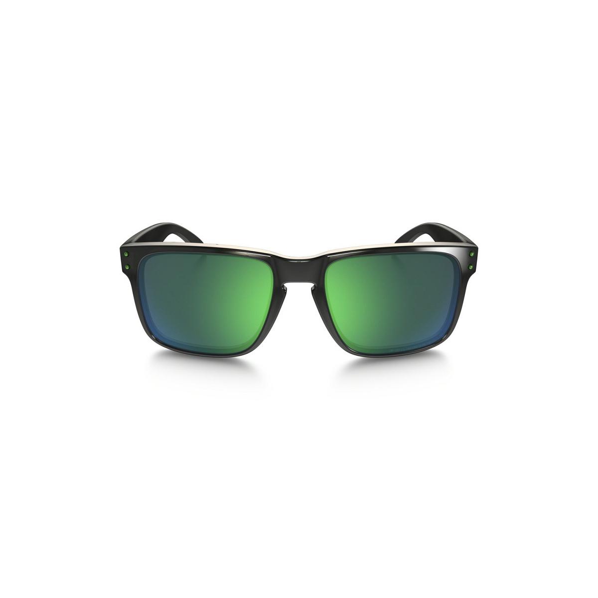 9cfd8594b8953 ... Óculos Oakley Holbrook Polished Black  Lente Jade Iridium Polarizado ...