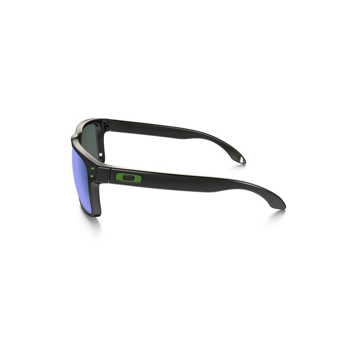 7dccf82f7c891 ... Óculos Oakley Holbrook Polished Black  Lente Jade Iridium Polarizado ...