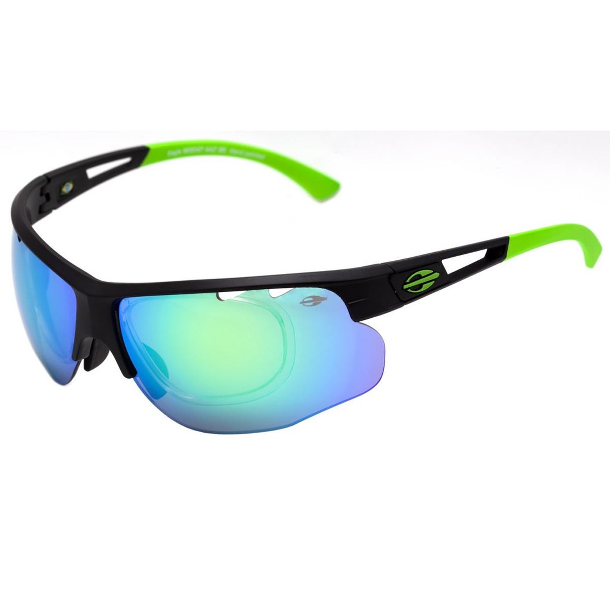 Óculos Mormaii Eagle Preto Fosco  Lente Verde Espelhada ref M0047AAZ85 706e9df889