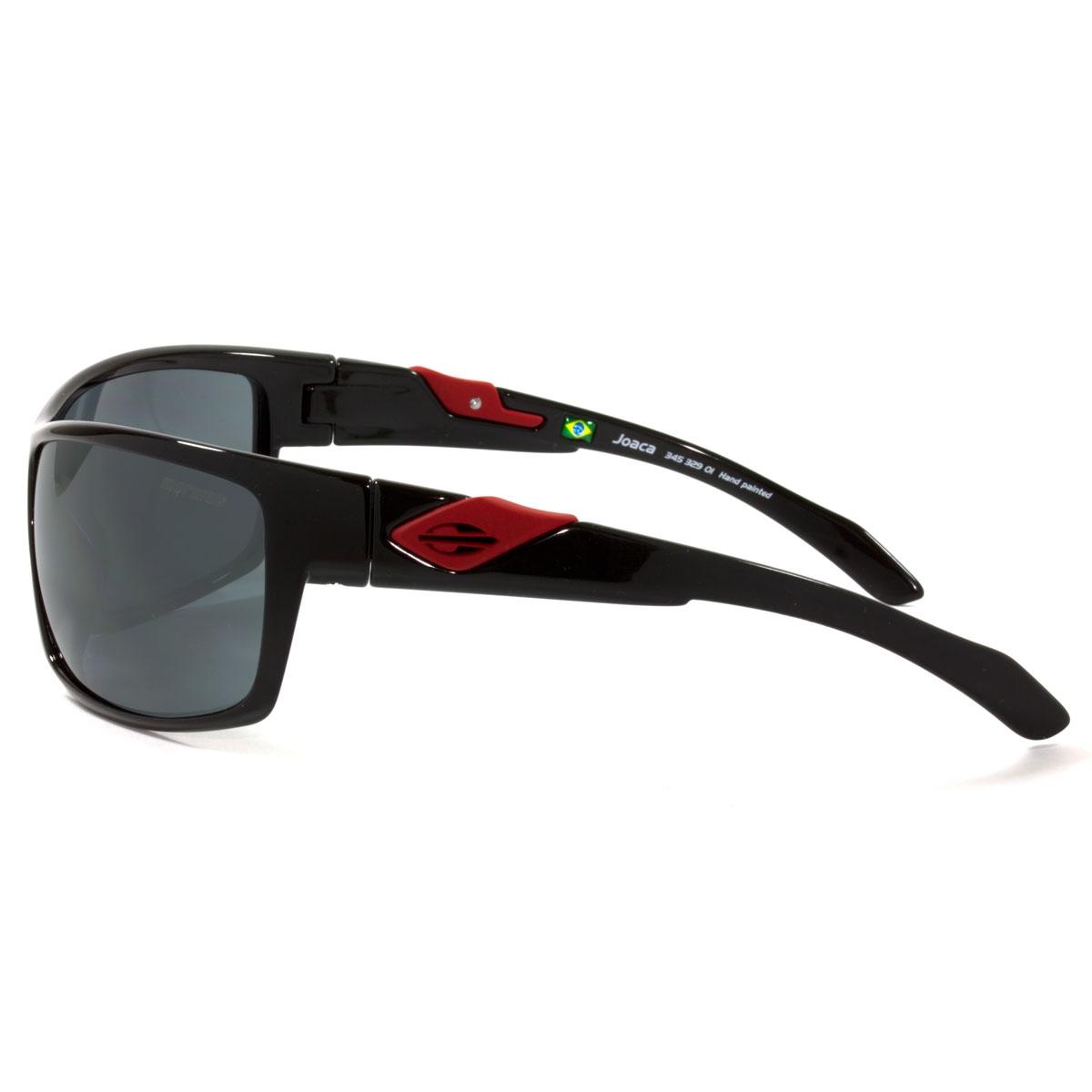 Óculos Mormaii Joaca Preto Brilho e Logo Vermelho Lente . de466b7321