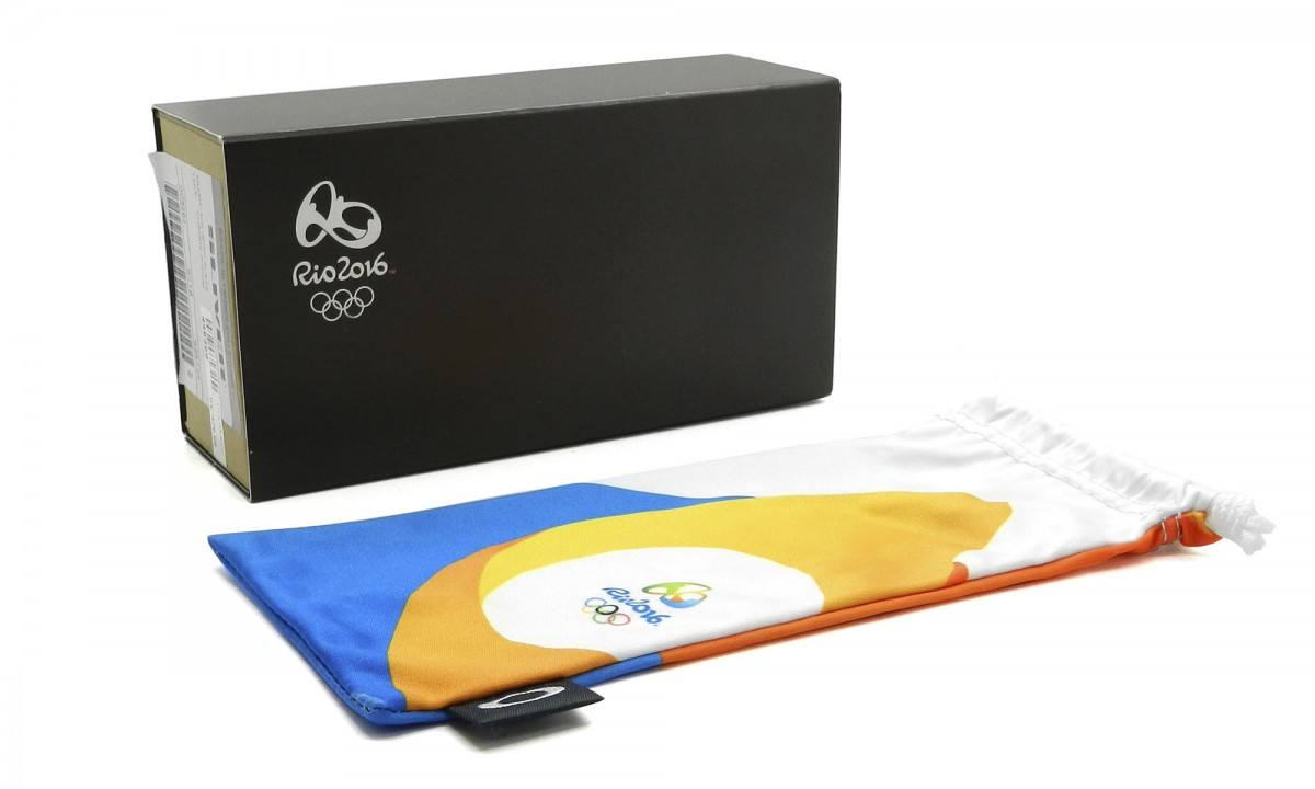 ... Óculos Oakley Chainlink Olimpics Collection Polished Black Lente Jade  Iridium 5907e55c91