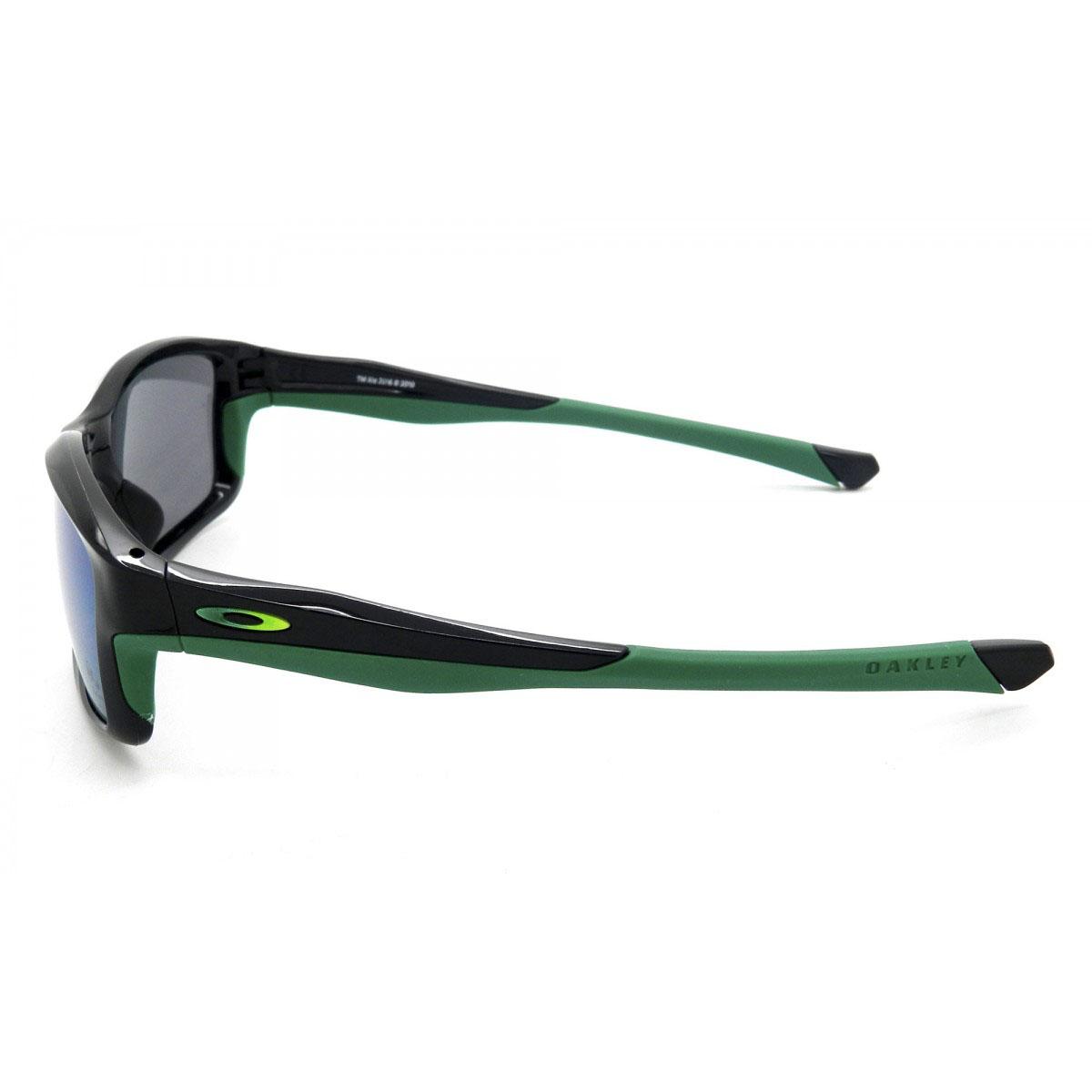 ... Óculos Oakley Chainlink Olimpics Collection Polished Black Lente Jade  Iridium ... 7fd05cb321