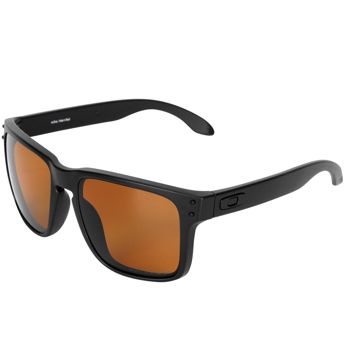 a4217d463fec1 Óculos Oakley Holbrook LX Matte Black Lente Bronze Polarizado ref ...